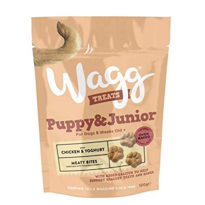 Thức ăn vặt cho chó con WAGG  PUPPY & JUNIOR TREATS 120g
