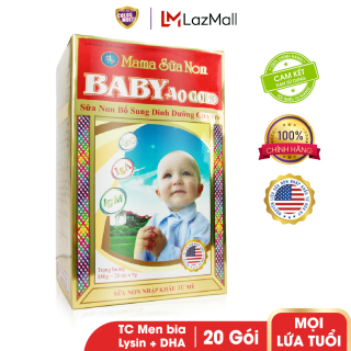Sữa bột tăng cường tiêu hóa và sức đề kháng Baby A0 Gold hộp 20 túi x 9g thumbnail