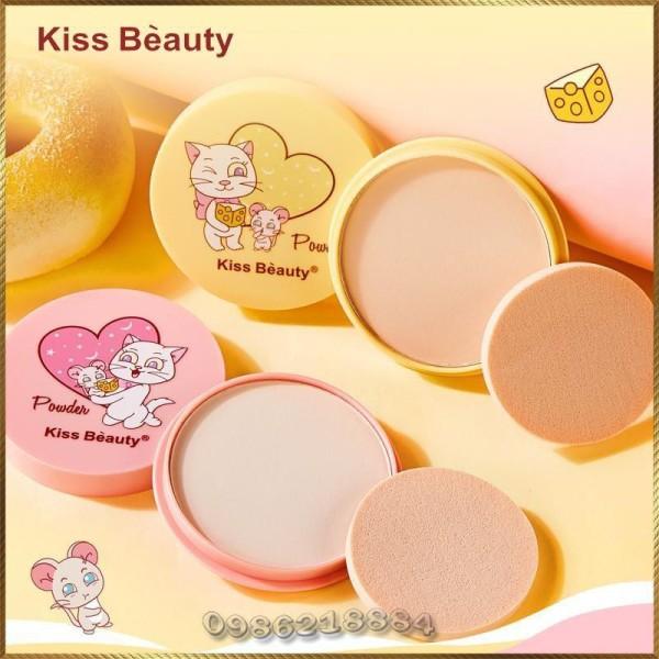Phấn nén Kiss Beauty dưỡng ẩm che khuyết kiềm dầu PDK2 giá rẻ