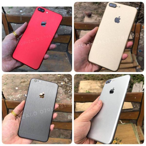 Dán Skin Nhôm Xước IPhone Ip6 Ip6s 6plus 7plus 8plus Ip7 IpX IpXS