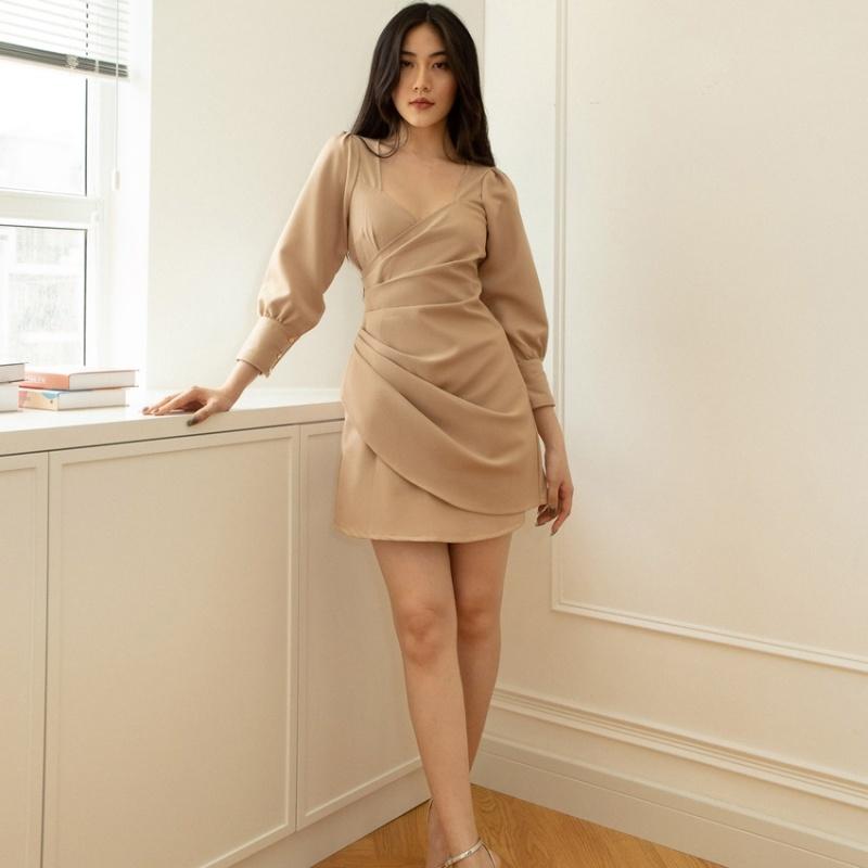 Nơi bán EDINI - Váy Đầm Kiểu Xếp Eo D1220-D1391