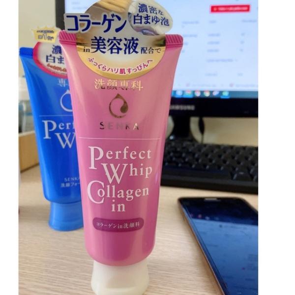 Sữa rửa mặt tạo bọt bổ sung collagen senka perfect whip collagen in 120ml cam kết sản phẩm đúng mô tả chất lượng đảm bảo an toàn đến sức khỏe người sử dụng cao cấp