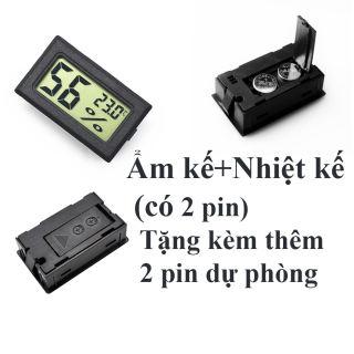 Ẩm kế/nhiệt kế điện tử đã có sẵn 2 pin và tặng thêm 2 pin dự phòng