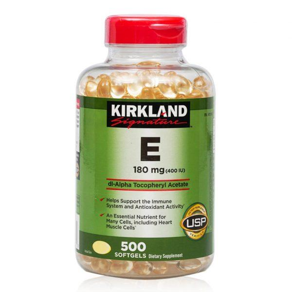 Viên Uống Đẹp Da Kirkland Signature Vitamin E 400iu 500 Viên (date 2022) nhập khẩu