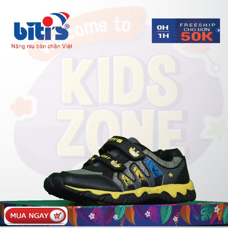 Giày Bitis đội trẻ em chống hôi chân cho bé, đế cứng bảo vệ chân bé trước mọi vật cản sắc nhọn, bảo hành tại của hàng trên toàn quốc 1 năm. giá rẻ