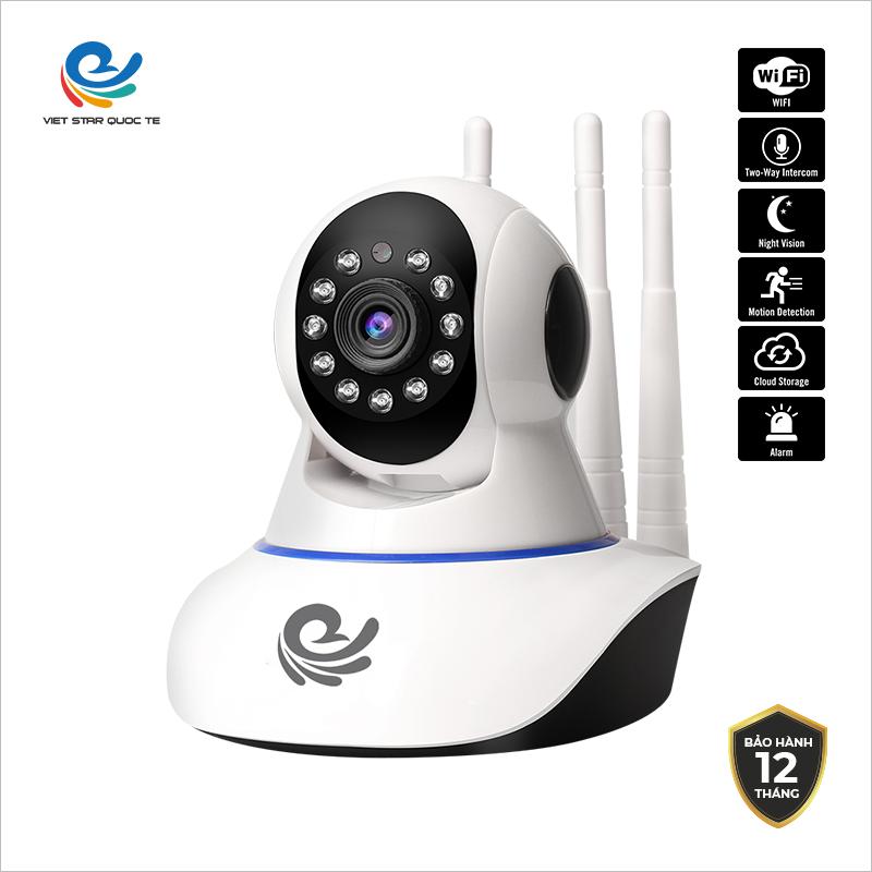 Camera WiFi IP VIET STAR CC1021 2.0MP-Độ phân giả Full HD 1080P- Hồng ngoại ban đêm- Phát hiện chuyển động- Bảo hành 12 tháng CC1021