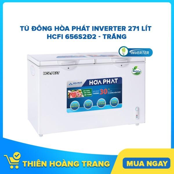 Tủ đông Hòa Phát Inverter 271 lít HCFI 656S2Đ2 - trắng