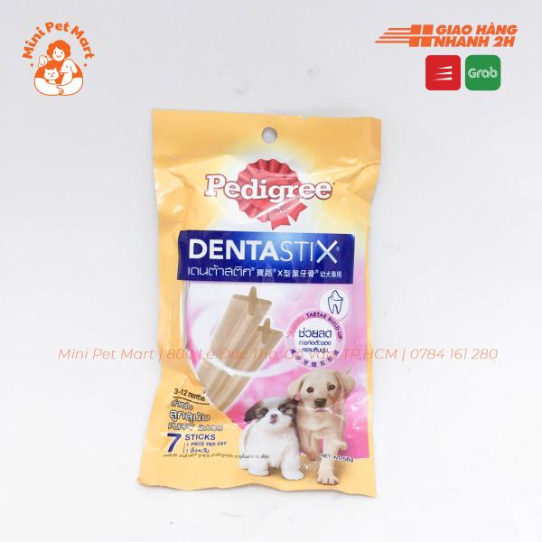 Bánh xương chăm sóc răng PEDIGREE DentaStix cho chó con - gói 7 que
