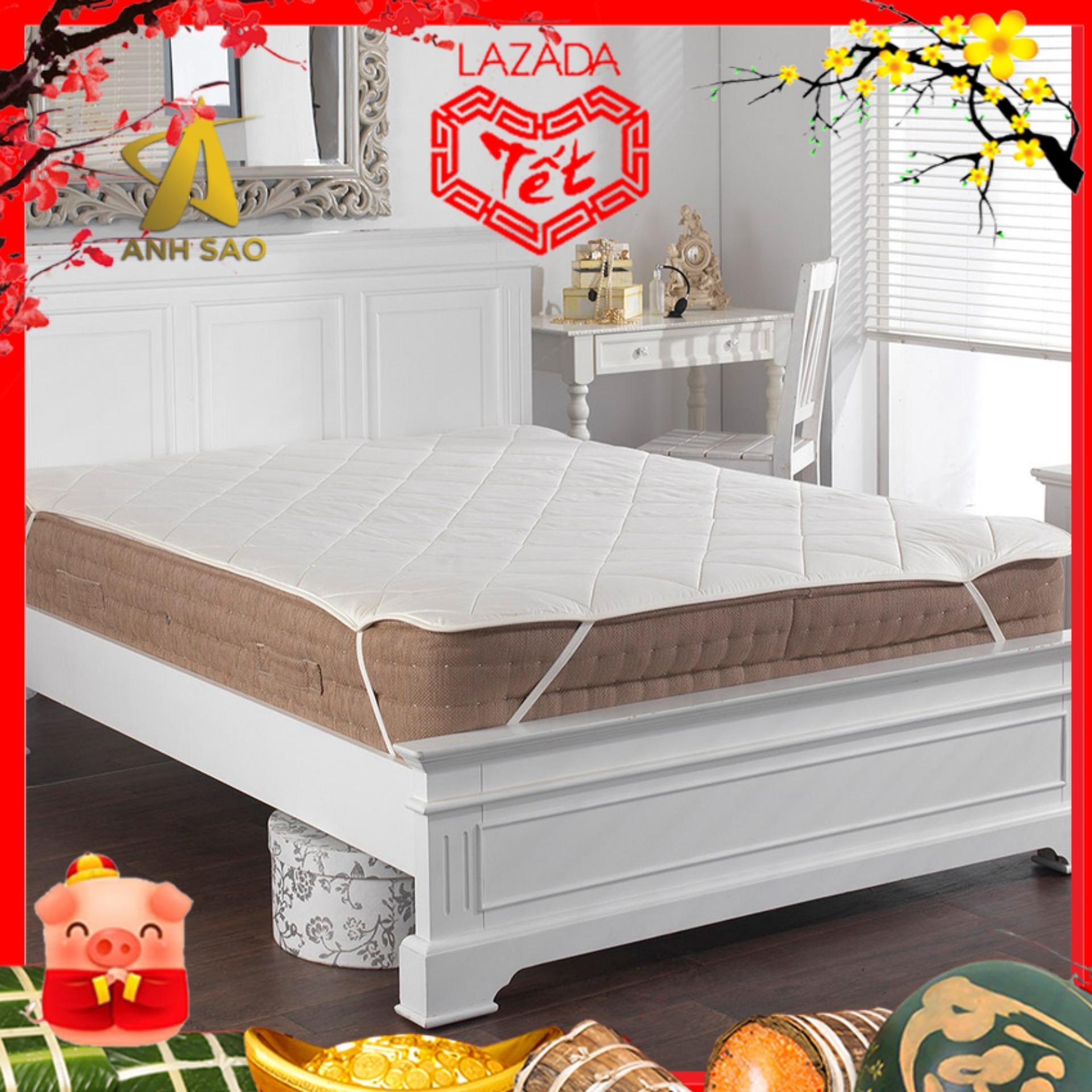Tấm lót bảo vệ nệm Ưu Việt màu trắng (Đầy đủ size: \