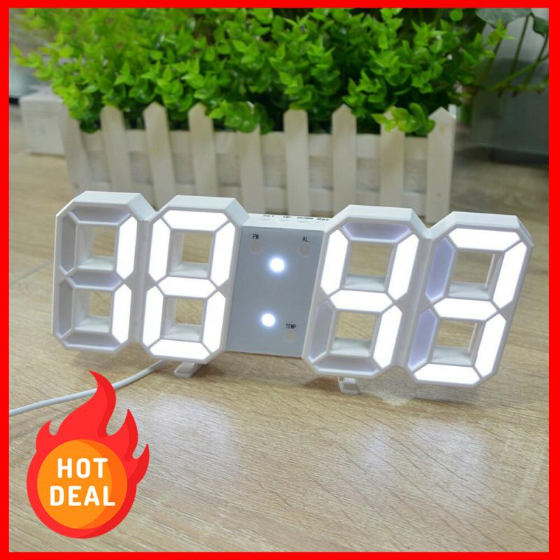 Đồng hồ treo tường led, đồng hồ led treo tường, đồng hồ 3D led, đồng hồ led DH092 bán chạy