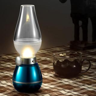 Đèn thờ điện, Đèn bàn thờ tích điện - Đèn thờ cao cấp trang bị bộ cảm biến thổi tắt. thumbnail