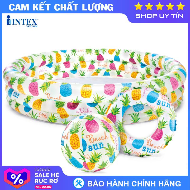 Bộ Bể 1m32 + Bóng + Phao Intex 59469 - Hồ Bơi Cho Bé Mini, Bể Bơi Phao Trẻ Em, Do Choi Tre Em Có Giá Siêu Tốt