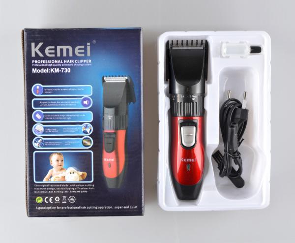 Tông đơ cắt tóc chuyên nghiệp tông đơ Kemei 730 (Có Sạc) thiết kế nhỏ gọn, tiện lợi và dễ dàng sử dụng sẽ các bạn cắt tóc cho người thân ngay tại nhà mà không cần phải ra tiệm. nhập khẩu