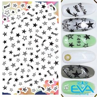 Miếng Dán Móng Tay 3D Nail Sticker Tráng Trí Hoạ Tiết Ngôi Sao Twinkle Star F493 thumbnail