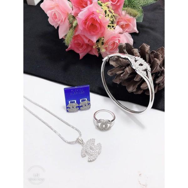 Bộ trang sức X gồm 4 món bạc ta cho nữ giá tốt