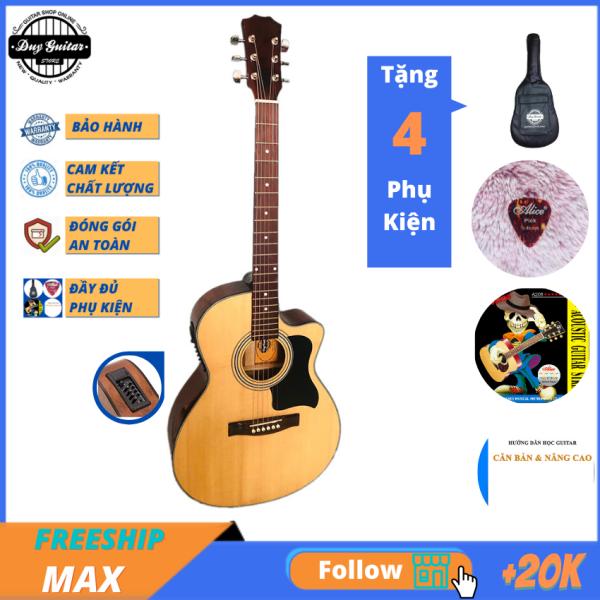 Đàn guitar Acoustic Có EQ DJ120X cho âm thanh ra loa tốt trong tầm giá dưới 2 triệu Đàn guitar gỗ thịt âm thanh vang tốt - Duy Guitar Store