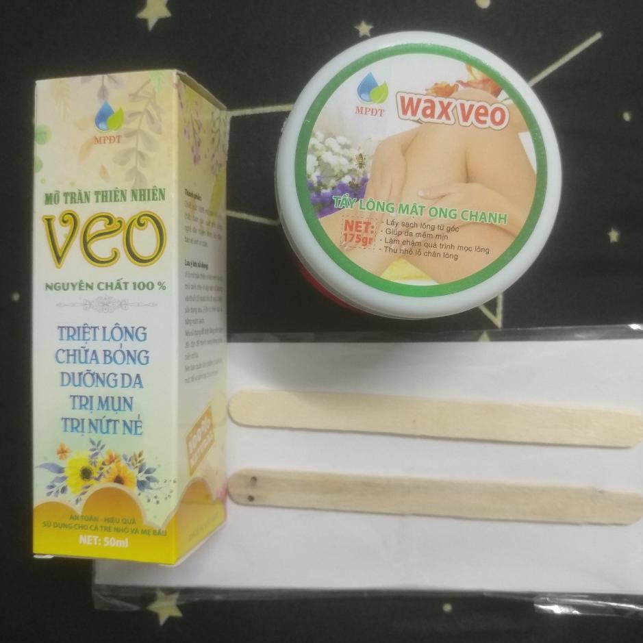 (tặng que và giấy) combo wax veo và tinh chất triệt lông dễ dàng sử dụng tại nhà nhập khẩu
