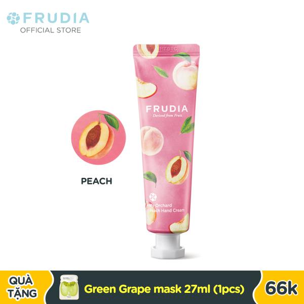 Kem Dưỡng Ẩm Tay Chiết Xuất Từ Trái Đào Frudia My Orchard Peach Handcream 30ml