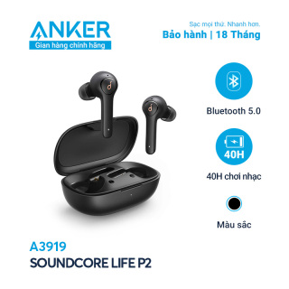 Tai nghe bluetooth 5.0 TWS SOUNDCORE Life P2 (by Anker) - A3919 chống nước IPX7, tích hợp 4 micro, thời gian sử dụng 40 tiếng, bảo hành 18 tháng - Hãng phân phối chính thức thumbnail