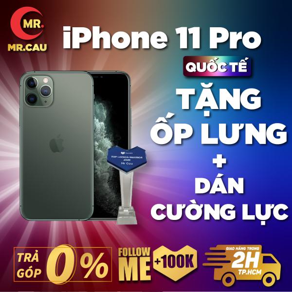 Điện thoại iPhone 11 PRO 256GB Chính Hãng Apple Bản Quốc Tế Máy Nguyên Zin Nguyên Bản Đẹp như mới Pin cao trên 90% hỗ trợ trả góp 0%