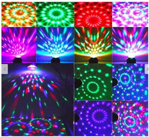 Đèn trụ xoay mini, Đèn cảm ứng nhạc, Đèn Led xoay, Đèn Led karaoke, Đèn Led vũ trường, Đèn cảm ứng âm thanh, Đèn chớp 7 màu, Đèn trang trí