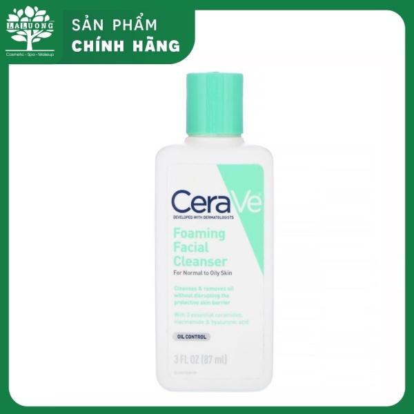 [Da dầu] Sữa rửa mặt CeraVe cực kì an toàn và dịu nhẹ 87ml