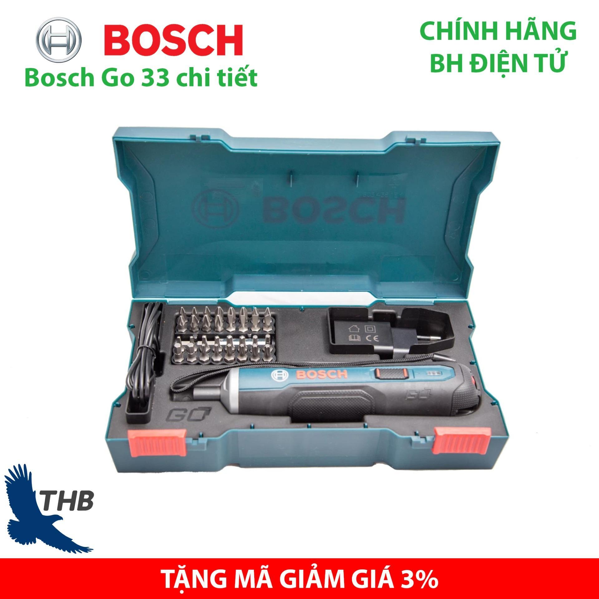 Máy vặn vít Máy bắt vít cầm tay dùng pin Bosch Go 33 chi tiết Pin 3.6V 1.5Ah Xuất xứ Malaysia