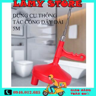Dụng cụ thông cống áp suất cao, Cây thông tắc cống,Dụng Cụ Thông Cống Dây Dài 5m - Siêu tiện lợi, dễ dàng sử dụng với một mức giá vô cùng hấp dẫn. BH toàn quốc 1 đổi 1 tại Lamy Store thumbnail
