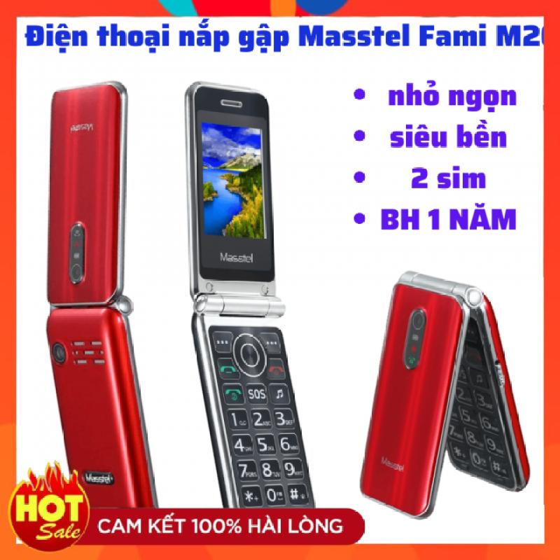 [GIÁ SỐC ]Điện thoại nắp gập Masstel Fami M20 2 sim 2 sóng khung viền kim loại thiết kế siêu đẹp Mới nguyên seal
