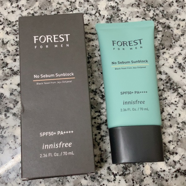 Chống Nắng Cho Nam Forest For Men No Sebum Sunblock 70ml