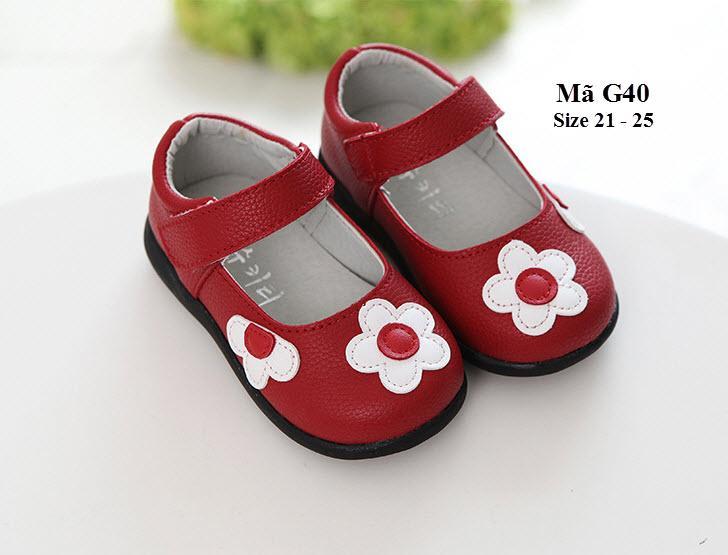 Giá bán Giày Bé Gái 1 - 2 Tuổi Kiểu Dáng Hàn Quốc G40 Đỏ