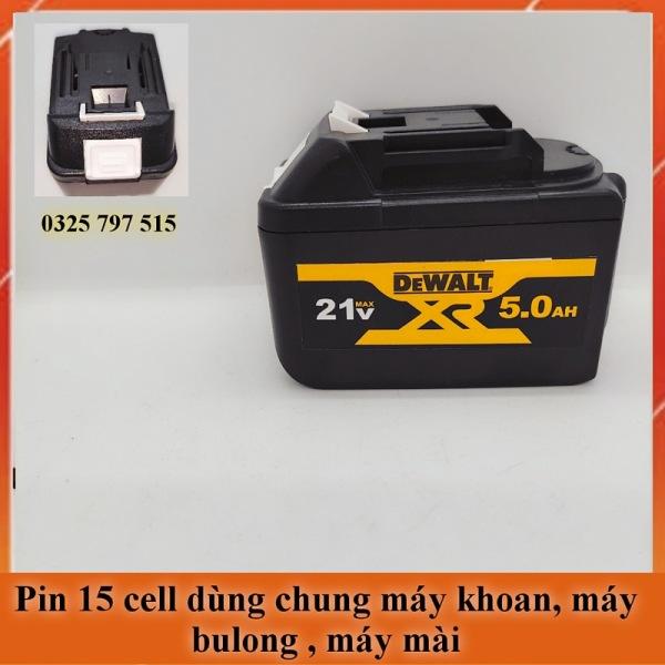 Pin Máy Khoan 15 Cell Chân Gài Makita Dùng Chung Cho Máy Bulong, Máy Mài