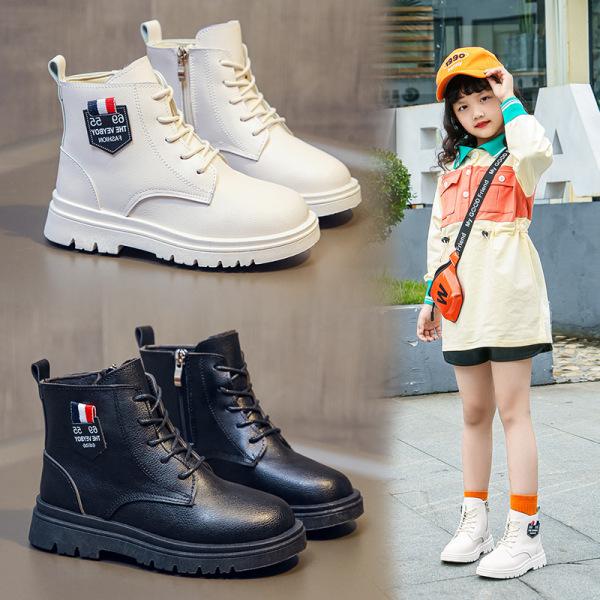 Giá bán Giày trẻ em boot cao cổ cho bé gái da mềm đế êm phong cách Hàn Quốc sang chảnh
