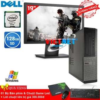 máy tính đồng bộ dell optiplex core i7 - 3770 ram 8gb hdd 500gb + ssd 128gb + tặng màn hình lcd 19 inch