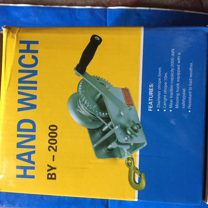 Tời quay tay 2000 LBS không cáp chịu tải 900kg giá tốt khách hàng