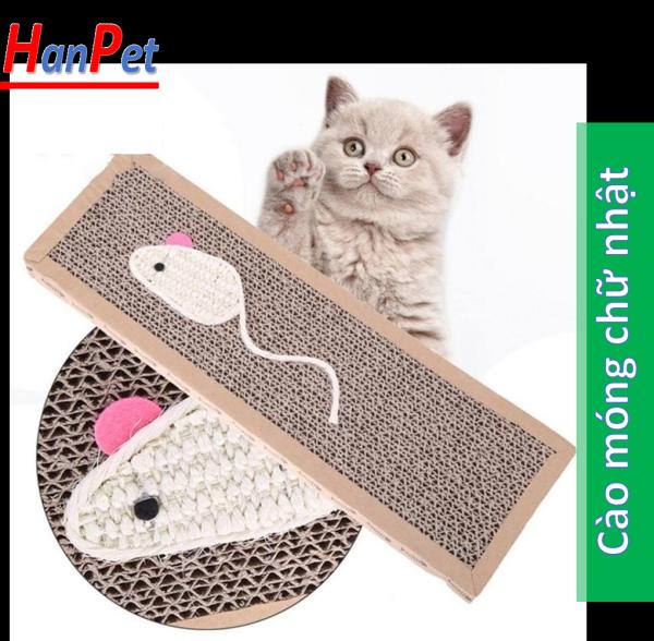 Cào móng chữ nhật giấy (có 2 size) ( 4711545) bàn cào móng cho mèo-HP10211TC