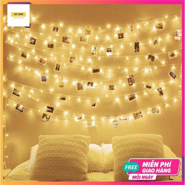 [GIFT] Dây đèn led 7m 50 bóng đèn fairy light decor phòng siêu xinh