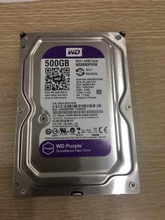 Ổ cứng HDD 500G Western Purple ( Tím ) , Chuyên dụng cho camera , lưu trữ dữ liệu - Bảo hành 2 năm lỗi đổi mới thumbnail