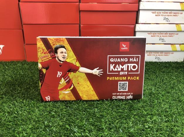 Giày đá bóng Kamito Quang Hải Premium Pack - Giày đá banh QH19 chính hãng Full box tặng túi rút giá rẻ