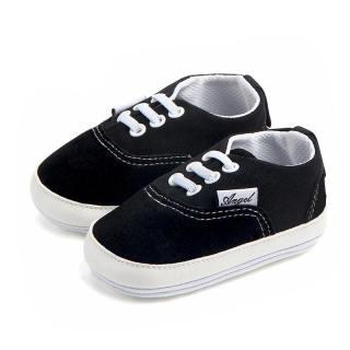Giày Bé Trai Đế Cao Su Chống Trượt Mới, Giày Em Bé Cổ Điển Bằng Cotton Màu Trơn Sneakers Giày Trẻ Sơ Sinh Bé Trai Bé Gái Đi Bộ Đầu Tiên