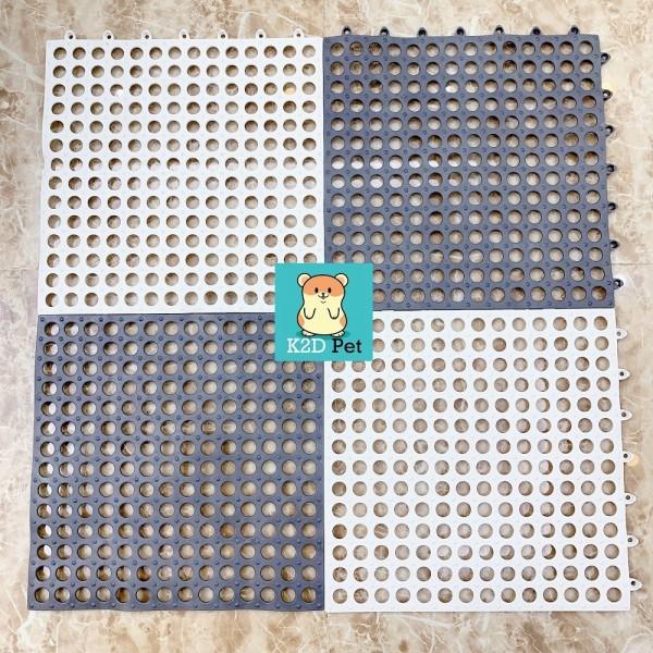 Sàn nhựa tròn lót sàn cho Guinea Pig (bọ ú, chuột lang), chó, mèo, thỏ, sóc, chinchilla