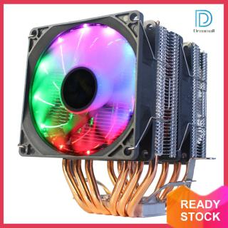 Tản Nhiệt Đèn RGB Làm Mát CPU, Quạt CPU 4 Chân Bộ Tản Nhiệt 6 Ống Dẫn Nhiệt thumbnail