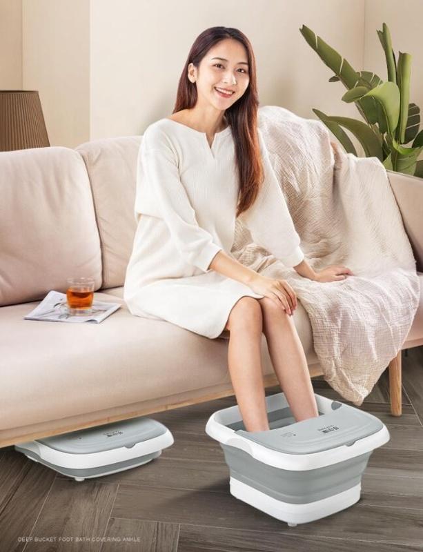Bồn ngâm chân massage hồng ngoại sưởi ấm sục oxy gấp gọn tiện lợi