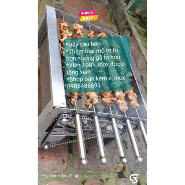 Máy nướng thịt, chả mini tự động chuẩn (xiên  inox đi kèm máy)