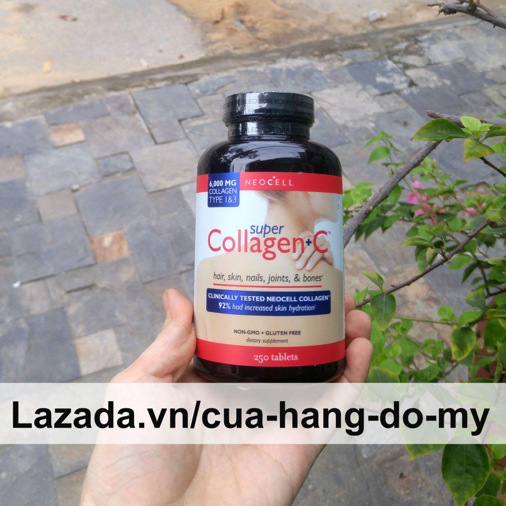 Viên uống Super collagen Neocell +C type 1, 3 250 viên, giúp đẹp da ngăn ngừa lão hóa nhập khẩu