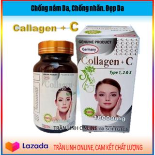 Viên Uống Đẹp Da Collagen +C Type 123 Giảm Thâm Nám Tàn Nhang, Ngừa Nếp Nhăn, Chống Lão Hóa - Hộp 60 viên - COLLAGEN C 1600mg (58NcTl Trắng) thumbnail
