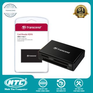 Đầu đọc thẻ 3.1 Transcend RDF8 Multi Card Reader - hỗ trợ 3 khe MicroSD SD CF (Đen) - Nhất Tín Computer thumbnail