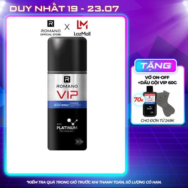 [Freeship] Xịt khử mùi cao cấp Romano Vip Vision sang trọng cuốn hút 150ml giá rẻ