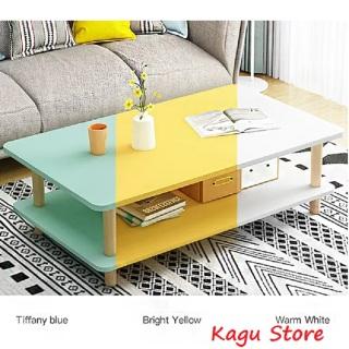 Bàn trà sofa 2 tầng [Ảnh thật], bàn sofa gỗ, bàn làm việc, bàn trà bắc âu 2 tầng cao cấp - Kagu thumbnail