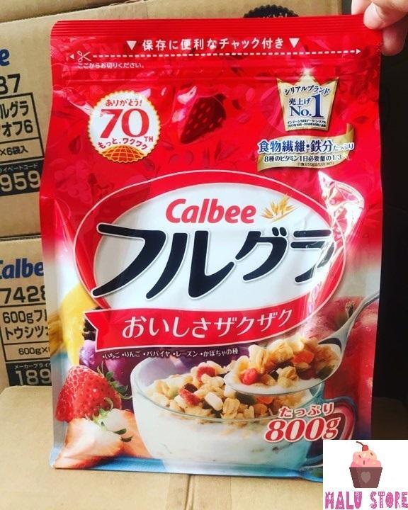 Mã Tiết Kiệm Để Mua Sắm (HSD 5/2020) Ngũ Cốc Trái Cây Calbee Với đủ Vị Ngon Tuyệt Gói đỏ 800g - Nhật Bản